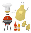 barbecue home or restaurant rarty dinner products vector image