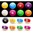 Billiard balls set vector | Price: 1 Credit (USD $1)