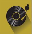 black vinyl record disc flat concept vector image
