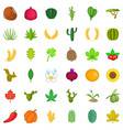 Botany icons set cartoon style vector image