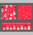 bright red colors set with seamless patterns vector image