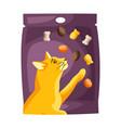 cat food packaging vector image