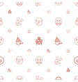 character icons pattern seamless white background vector image vector image