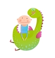 Child and dragon friendly friendship happy vector image vector image