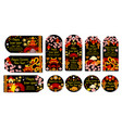 chinese new year greeting tags vector image vector image
