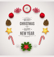 christmas composition with festive elements vector image