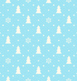 Christmas seamless background with fir tree and vector image vector image