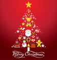 Christmas tree with icons decorate vector image vector image