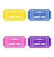 cinema ticket icons vector image