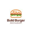 city burger logo vector image vector image