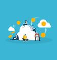cloud mining vector image vector image