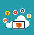 cloud services design vector image