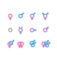 Colorful gender symbol and identity icons isolated vector image vector image