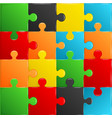 colorful plastic pieces puzzle game vector image
