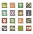 cruise icon set vector image vector image