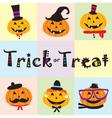 cute pumpkin pattern vector image vector image