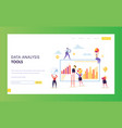 digital marketing data analysis chart landing page vector image