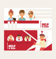 doctors team avatars and other hospital workers vector image vector image
