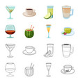 drink and bar logo vector image vector image