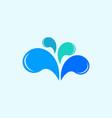 drop water splash creative modern logo vector image vector image