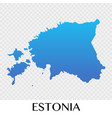 estonia map in europe continent design vector image