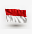 flag indonesia vector image vector image