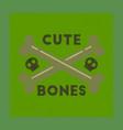 flat shading style icon cross bones vector image vector image