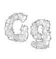 flower alphabet the letter g vector image vector image