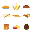 fresh baked bread products icons vector image vector image