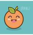 Fresh orange cartoon emotion graphic vector image