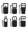 Gas and fuel pump icons set vector image vector image