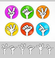 gestures of cartoon human hand vector image vector image
