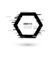 glitch frames set geometric shapes vector image vector image