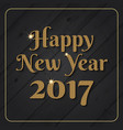 glitter gold happy new year 2017 background vector image