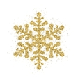 Gold glitter Christmas snowflake vector image