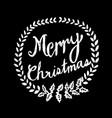 hand drawn merry christmas blackboard vector image