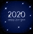 happy new year starry background vector image vector image