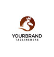 head horse logo design concept template vector image