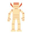 humanoid robot icon cartoon style vector image