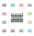 isolated gate icon lattice element can be vector image vector image
