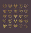 line icons of heart vector image