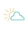 line natural sun and cloud in the sky weather vector image vector image