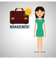 Management design Person icon Isolated vector image vector image