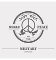 Military logos and badges Graphic template vector image vector image