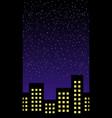 night building horizontal seamless pattern vector image