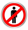 No people allowed No man sign vector image vector image