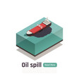 oil vessel pollution composition vector image vector image