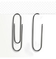paper clip stationery vector image