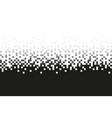 pixel grey gradient seamless pattern vector image vector image