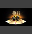 poker background with golden cards and realistic vector image
